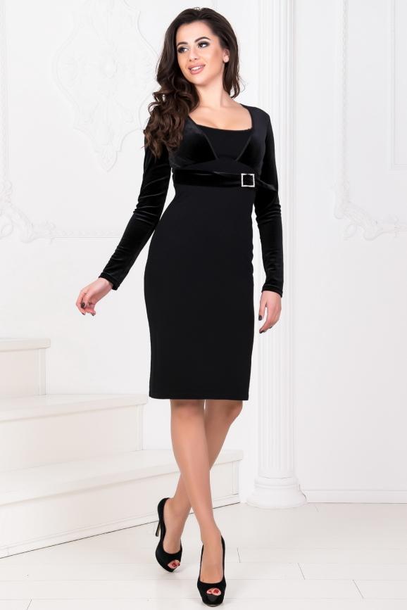 Коктейльное платье футляр черного цвета 507.1|интернет-магазин vvlen.com