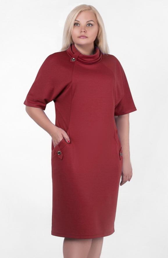 Летнее платье футляр бордового цвета 2364 .41 интернет-магазин vvlen.com