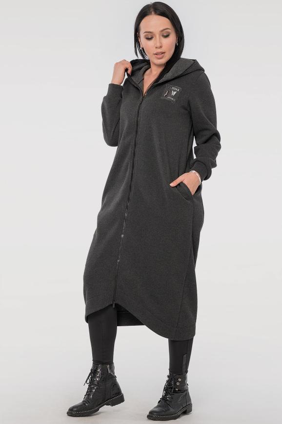 Кардиган стильный темно-серого цвета 2838.70|интернет-магазин vvlen.com