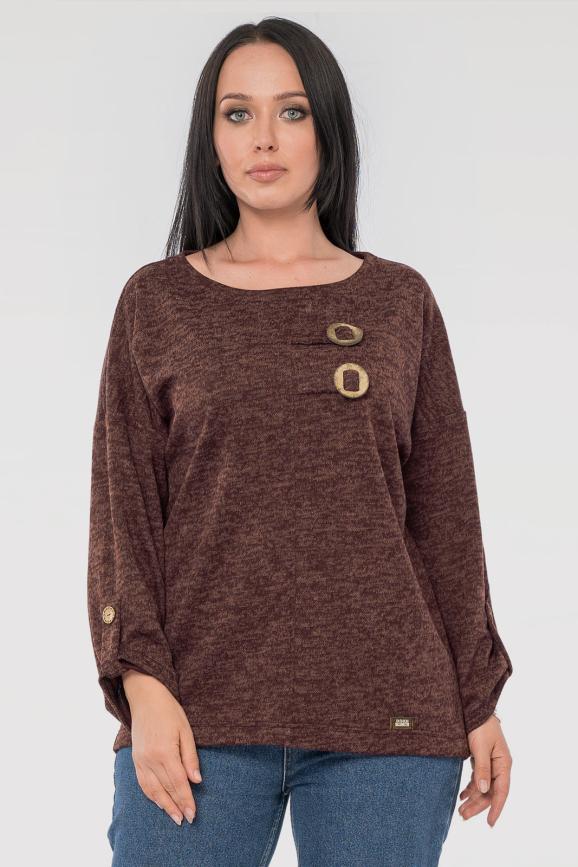 Блуза  шоколадного цвета|интернет-магазин vvlen.com