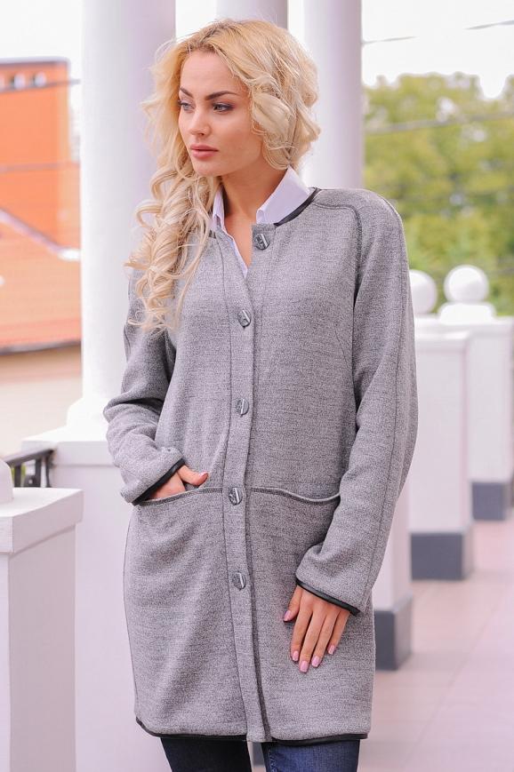 Кардиган стильный серого цвета|интернет-магазин vvlen.com