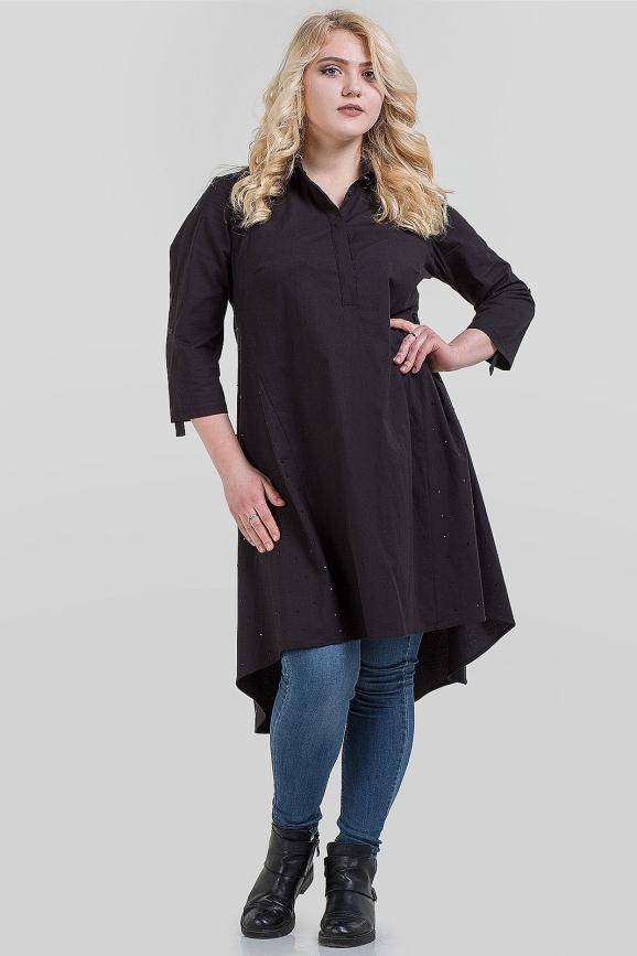 Блуза черного цвета|интернет-магазин vvlen.com