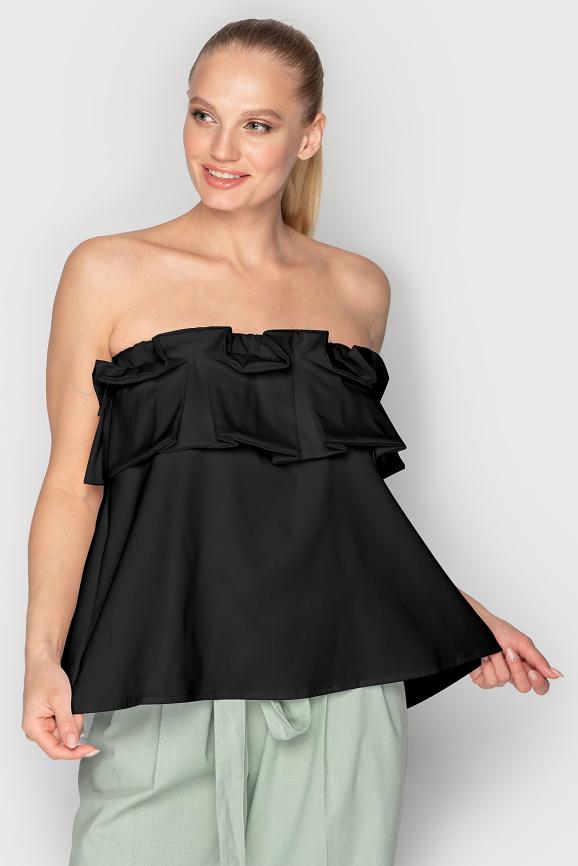 Блуза  черного цвета 763|интернет-магазин vvlen.com