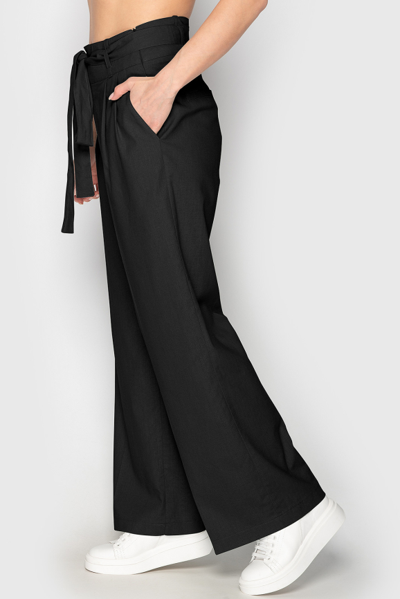 Брюки женские черного цвета 764|интернет-магазин vvlen.com
