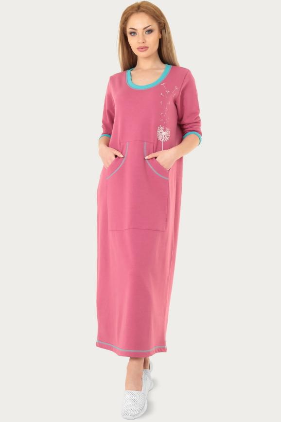 Спортивное платье  фрезового цвета|интернет-магазин vvlen.com