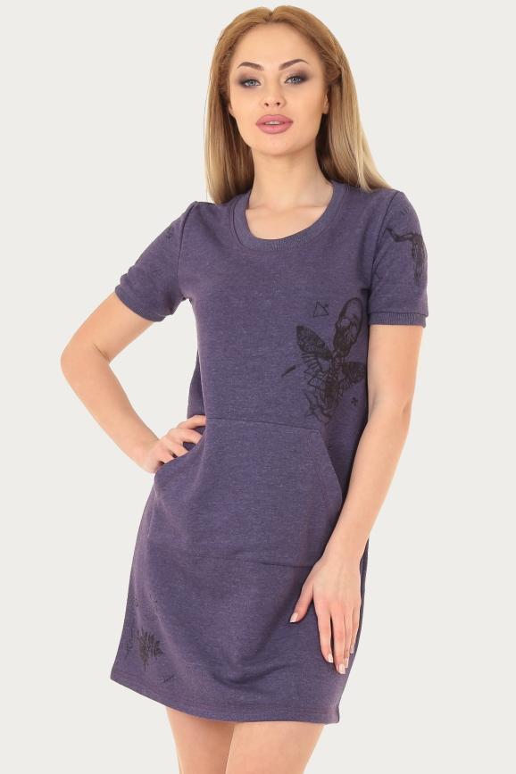 Спортивное платье  фиолетового цвета 225br|интернет-магазин vvlen.com