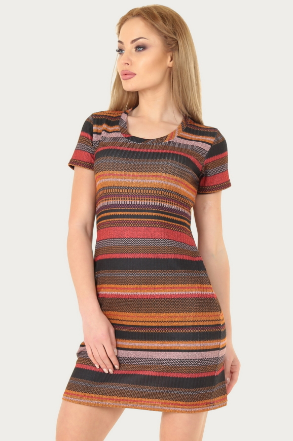 Спортивное платье  оранжевого с коричневым цвета 224br|интернет-магазин vvlen.com