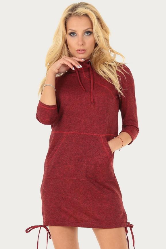 Спортивное платье  бордового цвета|интернет-магазин vvlen.com
