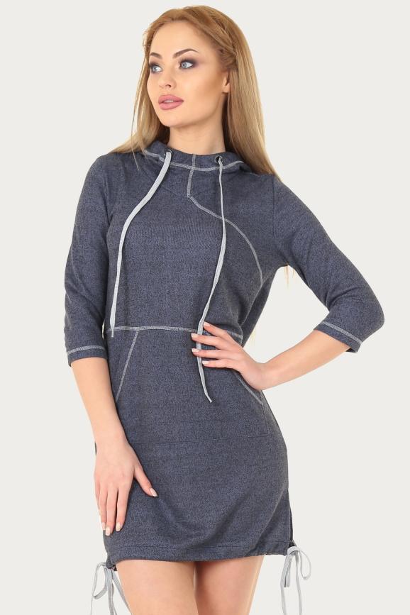 Спортивное платье  синего цвета 150br|интернет-магазин vvlen.com