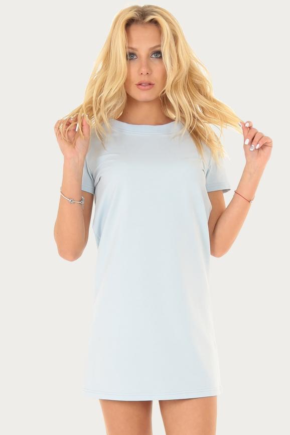 Спортивное платье  голубого цвета 228br|интернет-магазин vvlen.com