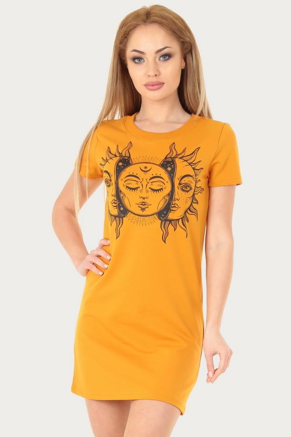 Спортивное платье  желтого цвета 228br интернет-магазин vvlen.com