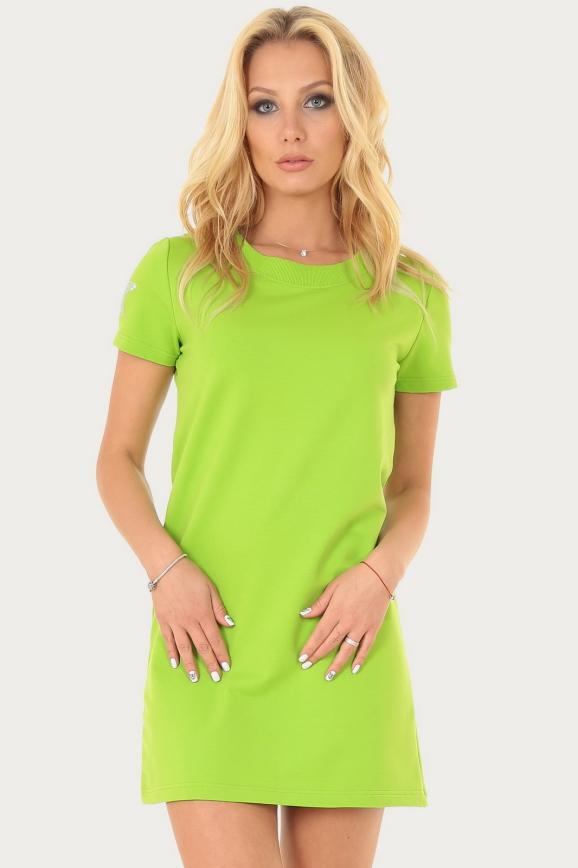 Спортивное платье  салатового цвета 228br|интернет-магазин vvlen.com