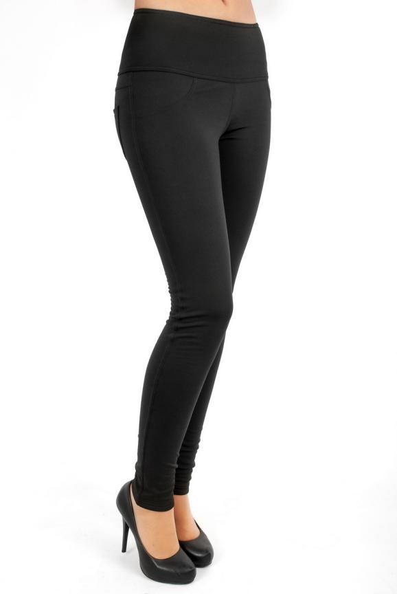 Женские лосины черного цвета 2262.68|интернет-магазин vvlen.com