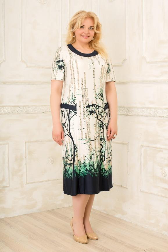 Платье белого с синим цвета 2334.5 d22|интернет-магазин vvlen.com