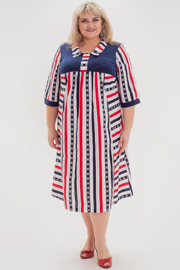 Платье синего с красным цвета |интернет-магазин vvlen.com