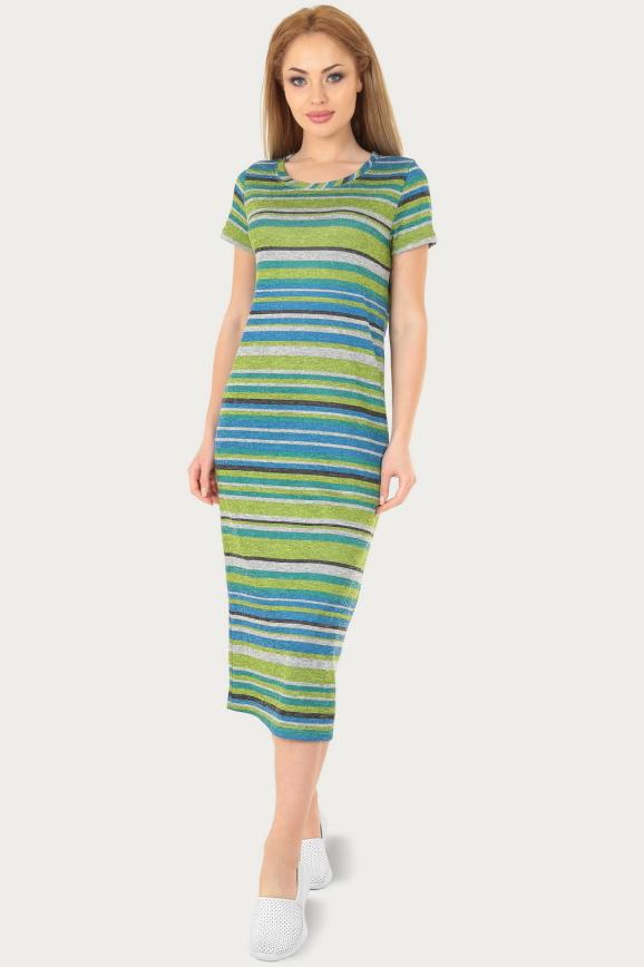 Спортивное платье  салатового цвета 232br|интернет-магазин vvlen.com