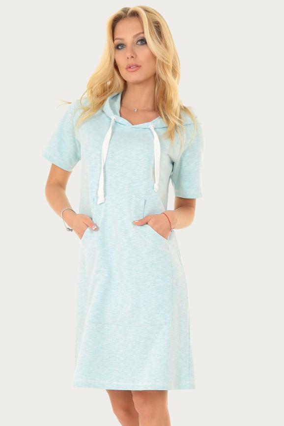 Спортивное платье  мятного цвета|интернет-магазин vvlen.com