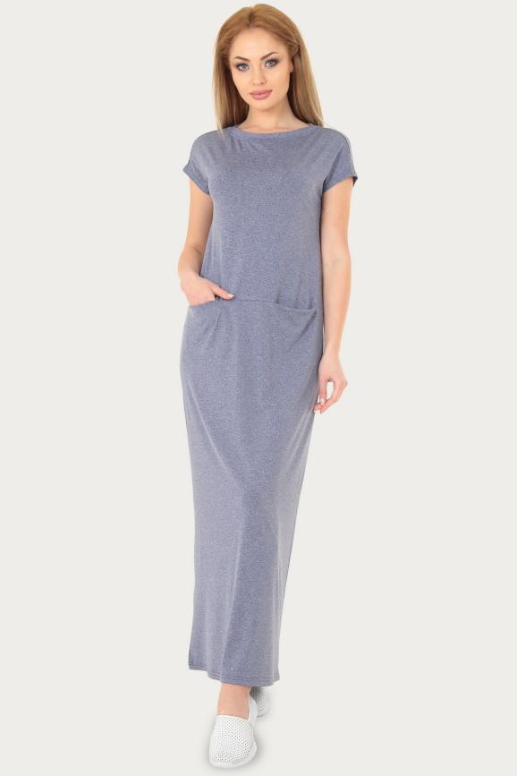 Спортивное платье  голубого цвета 217br интернет-магазин vvlen.com