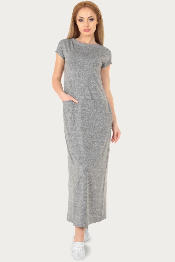 Спортивное платье  серого цвета 217br|интернет-магазин vvlen.com