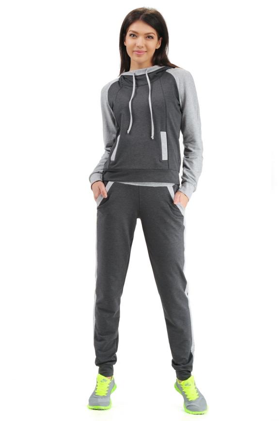 Спортивный костюм темно-серого цвета 2305.79|интернет-магазин vvlen.com