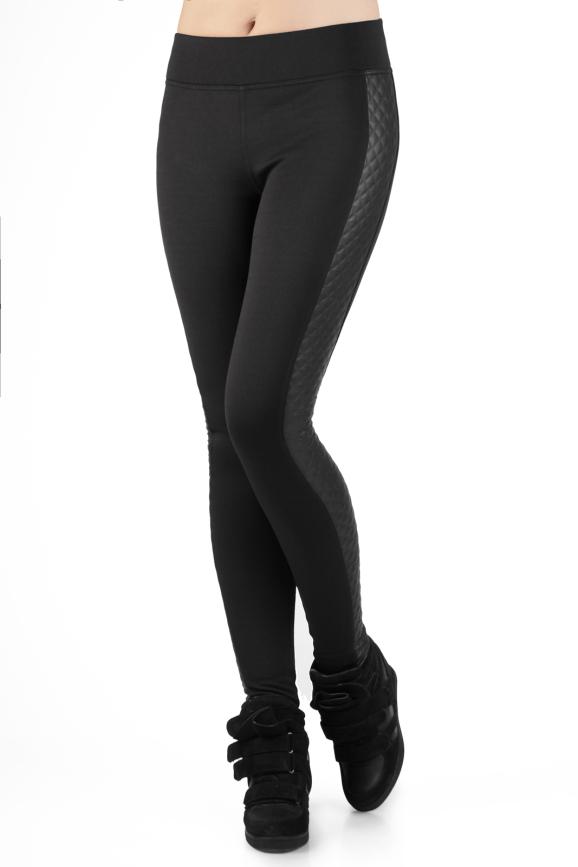 Женские лосины черного цвета 2252.67|интернет-магазин vvlen.com