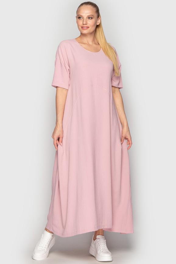 Платье оверсайз розового цвета 2858-2.116|интернет-магазин vvlen.com