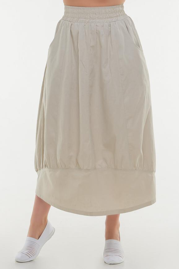 Юбка тюльпан бежевого цвета|интернет-магазин vvlen.com