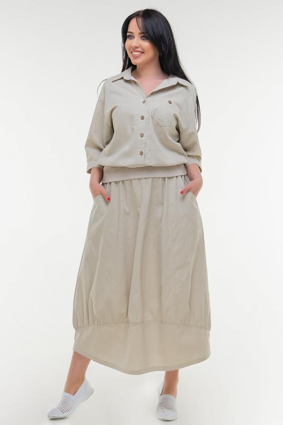 Блуза бежевого цвета it 505|интернет-магазин vvlen.com