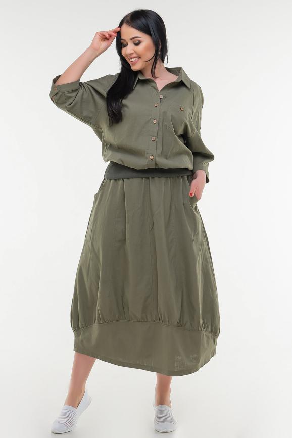 Блуза хаки цвета|интернет-магазин vvlen.com