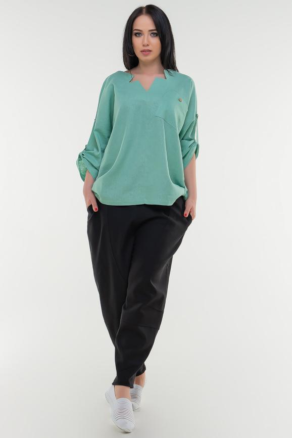 Блуза хаки цвета it 506|интернет-магазин vvlen.com