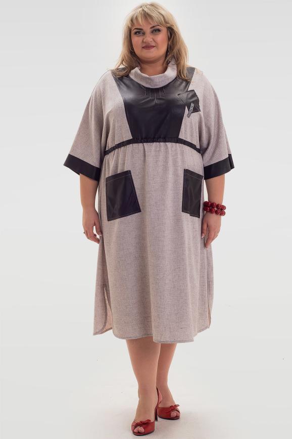 Платье бежевого цвета |интернет-магазин vvlen.com