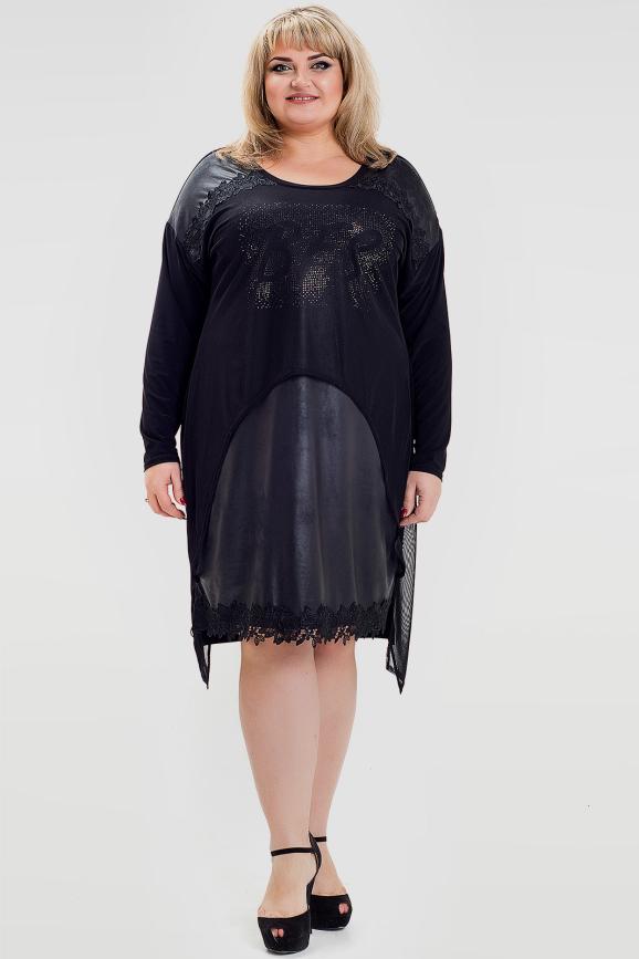 Платье черного цвета 1024с-1|интернет-магазин vvlen.com
