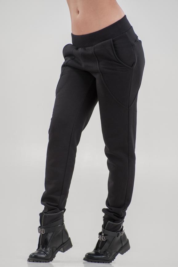 Спортивные брюки черного цвета 065|интернет-магазин vvlen.com