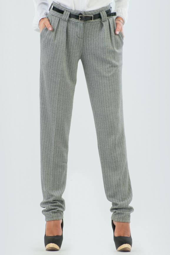 Брюки женские серого цвета 774.40-1 интернет-магазин vvlen.com