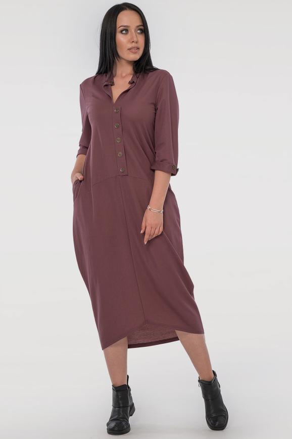 Повседневное платье  мешок капучино цвета 2539-3.101|интернет-магазин vvlen.com