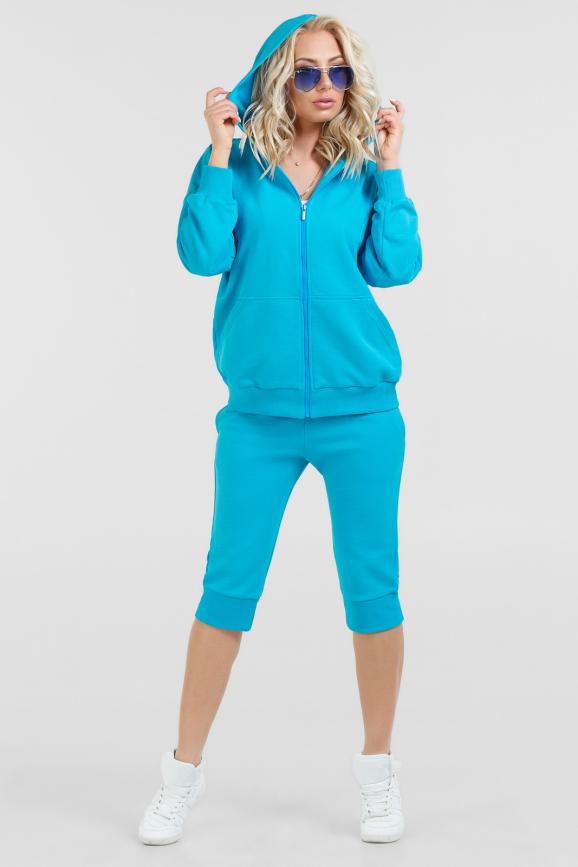 Спортивный костюм голубого цвета 071 интернет-магазин vvlen.com