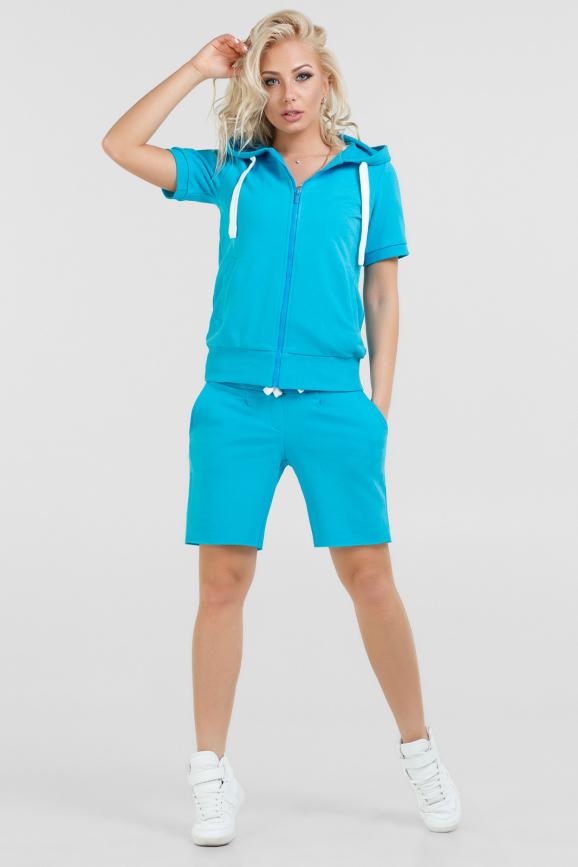 Спортивный костюм голубого цвета |интернет-магазин vvlen.com
