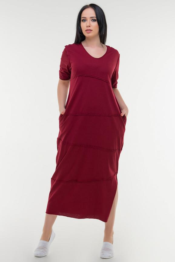 Летнее платье  мешок бордового цвета|интернет-магазин vvlen.com
