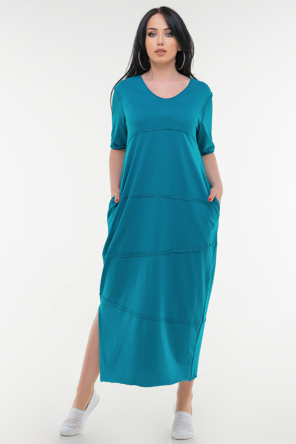 Летнее платье  мешок голубого цвета _ it 321|интернет-магазин vvlen.com