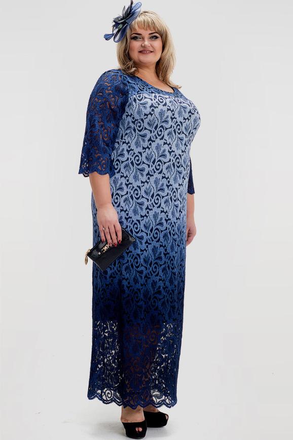 Платье голубого цвета |интернет-магазин vvlen.com