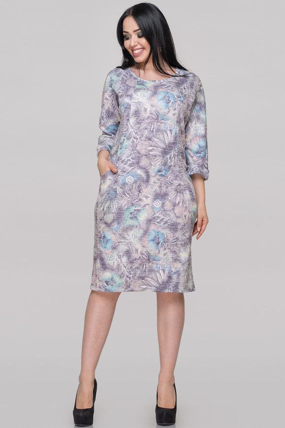 Платье футляр фиолетового тона цвета 2728.103|интернет-магазин vvlen.com