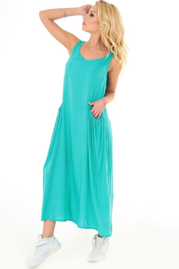 Повседневное платье балахон мятного цвета|интернет-магазин vvlen.com