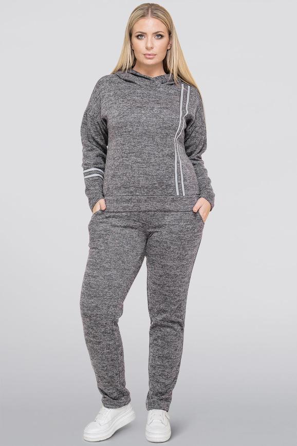Спортивный костюм серого цвета |интернет-магазин vvlen.com