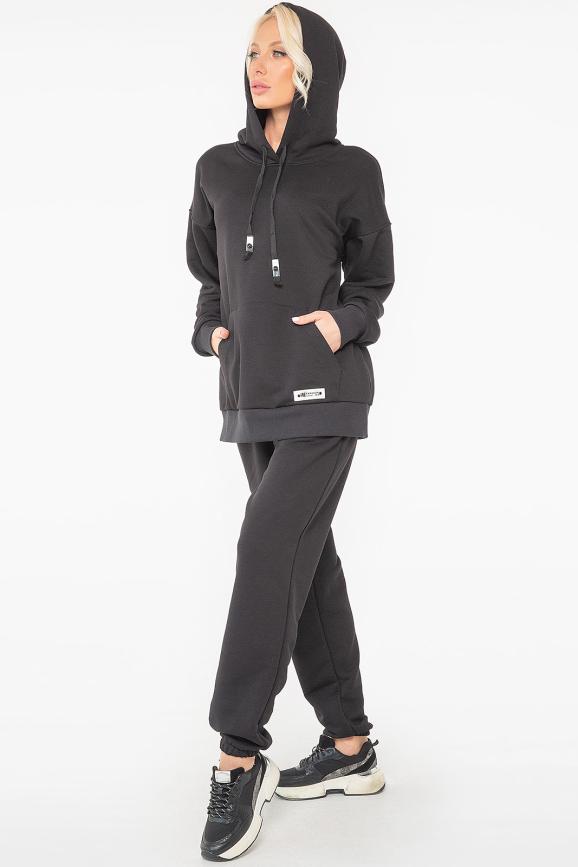 Спортивный костюм черного цвета 2943k-2943.137 интернет-магазин vvlen.com
