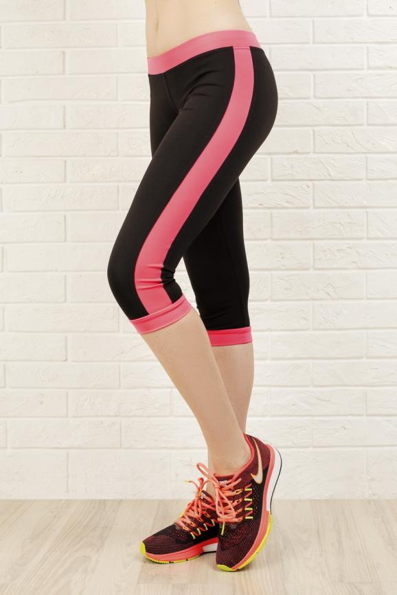 Лосины для фитнеса черного с розовым цвета 2313.67|интернет-магазин vvlen.com