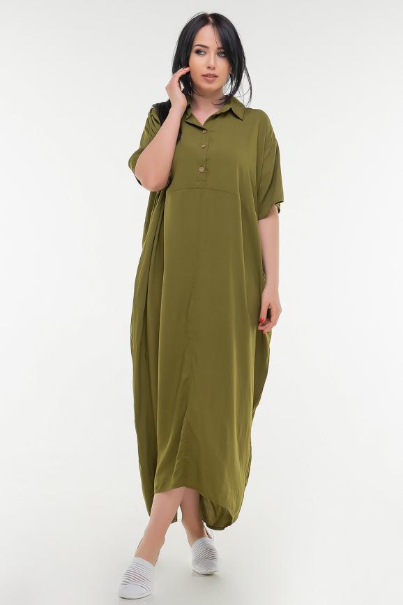 Летнее платье рубашка хаки цвета 103-1 it|интернет-магазин vvlen.com