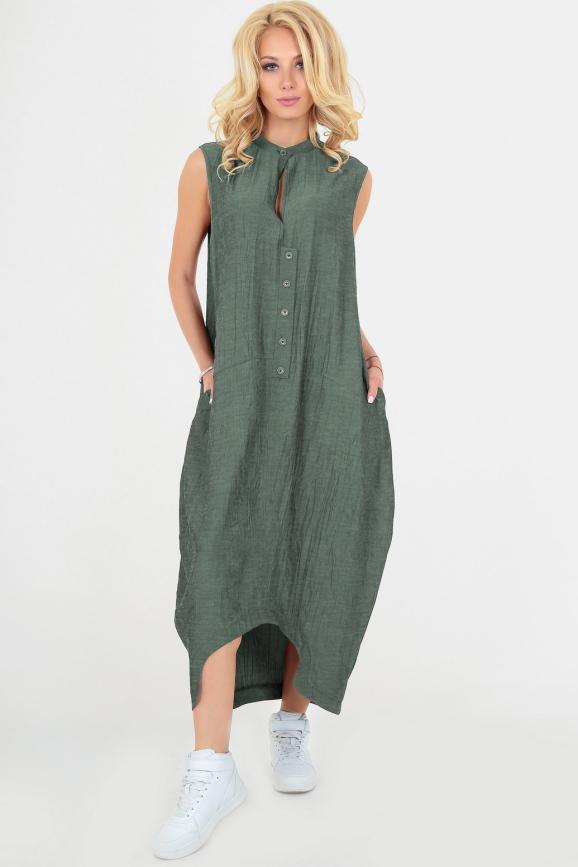 Платье оверсайз хаки цвета|интернет-магазин vvlen.com