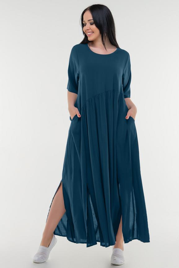 Летнее платье балахон морской волны цвета|интернет-магазин vvlen.com