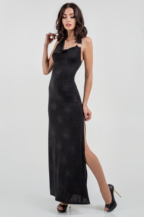 Вечернее платье футляр черного цвета|интернет-магазин vvlen.com