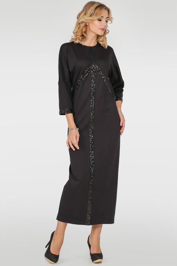 Вечернее платье  мешок черного цвета|интернет-магазин vvlen.com